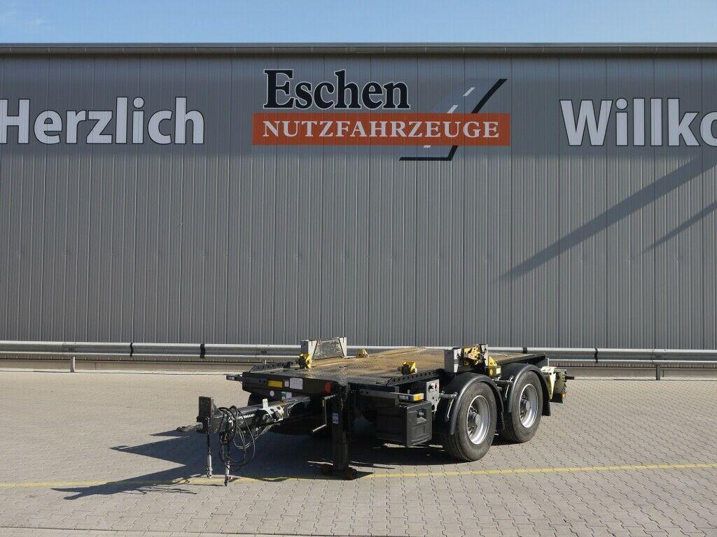 platform aanhangwagen Hüffermann HTM-09.35P Anhänger für Absetzmulden
