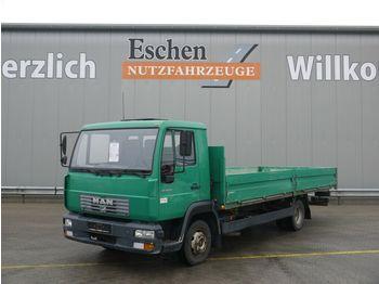Bestelwagen met open laadbak MAN 8.145 LLC Pritsche, 2. Hand, 3 Sitze, Blatt/Luft