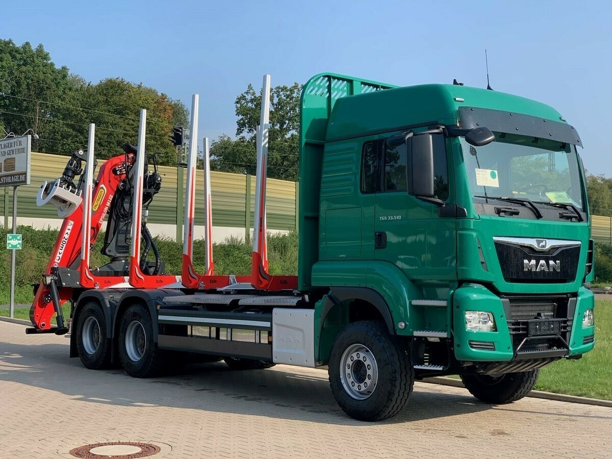 houttransport MAN TGS 33.510 6X4 BL / Euro6d  EPSILON M  12Z