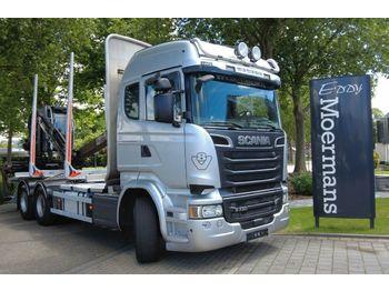 Houttransport Scania R730 6x4 AP Achsen Euro 6