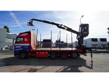 Verpachting Volvo FH500 8X4/4 TIMBER TRANSPORT WITH JONSERED 1080 79R CRANE - houttransport