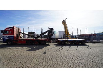 Verpachting Volvo FH500 8X4/4 TIMBER TRANSPORT WITH JONSERED 1080 79R CRANE COMBI WITH TIMBER TRANSPORT TRAILER - houttransport