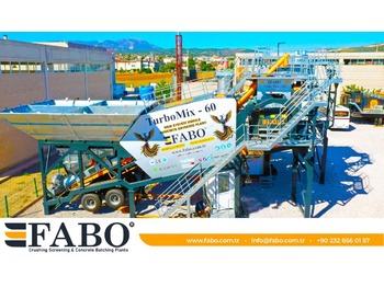 FABO TURBOMIX-60 MOBILE CONCRETE PLANT HIGH QUALITY - betoncentrale