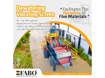 FABO PREMIUM QUALITY DEWATERING SCREEN WITH PU MESH - breekmachine