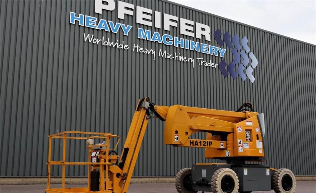 knikarmhoogwerker Haulotte HA12IP Electric, 12m Working Height, Jib, Non Mark