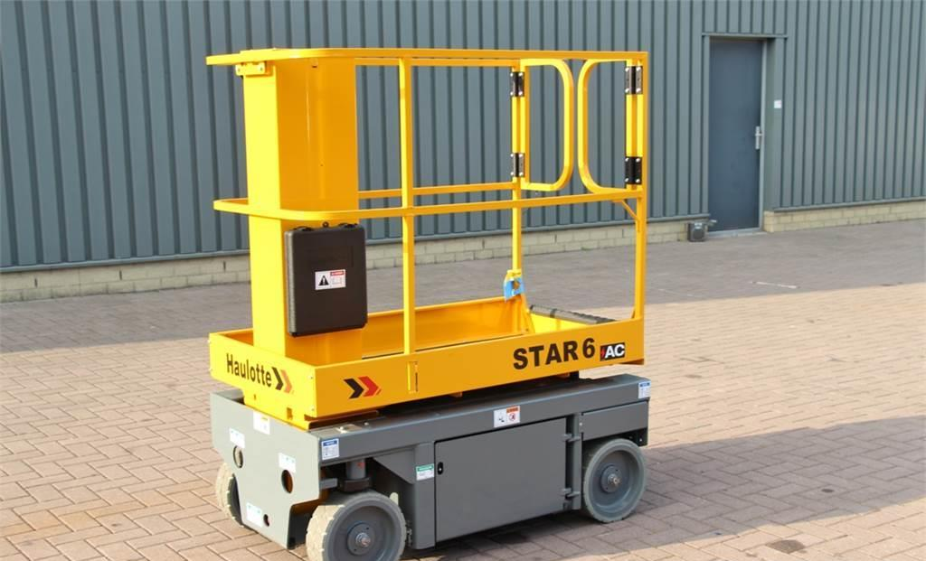 knikarmhoogwerker Haulotte STAR 6AC Electric, 4x2 Drive, 5.8m Working Height,