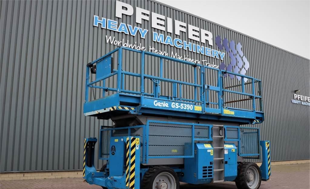 schaarlift Genie GS5390RT Diesel, 4x4 Drive, 18.3m Working Height,