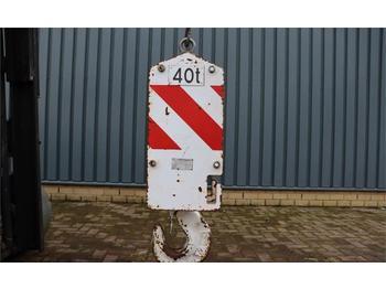 Onderdelen MOUFLES HOOKBLOCK 40t 40t, 4 Sheaves, Ø 17 mm