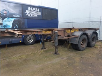 Chassis oplegger Van Hool 2 Axles ROR steel suspension 20ft