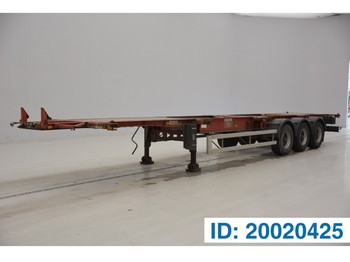 Containertransporter/ wissellaadbak oplegger DESOT Skelet 20-30-40-45 ft