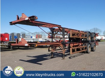 Containertransporter/ wissellaadbak oplegger Pacton 40 FT 2 AXLES BPW full steel