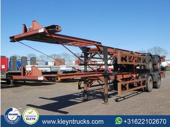 Pacton 40 FT 2 AXLES BPW full steel - containertransporter/ wissellaadbak oplegger