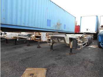 Containertransporter/ wissellaadbak oplegger Trouillet