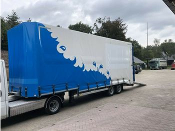 Dieplader oplegger Semi minisattel closed low loader
