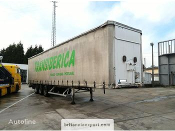 FRUEHAUF full steel frame tri axle 34 ton with lifting roof - huif oplegger