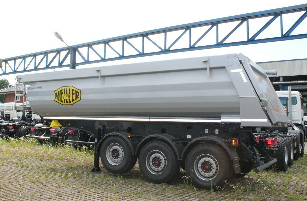 kipper oplegger Meiller MHPS 44/3 N  25m³ Stahl Mulde