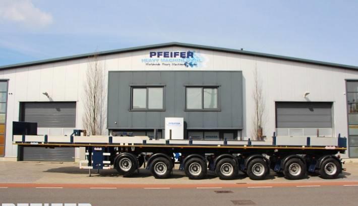 open bak met boorden oplegger Nooteboom OVB 95-07 69t Load Capacity, Available For Rent.