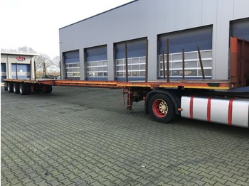 Platform oplegger Nooteboom OVB-48-03V, Extandeble: 21.65 Mtr, ABS, 3 x Powersteered, Twist-Locks uitschuifbaar