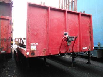 Vlakke/ open oplegger Kaiser col de cygne suspensions meca 2 essieux
