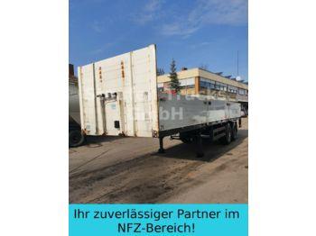 Vlakke/ open oplegger Meusburger Pritschen SANH 2-ACHS   KURZ 9 M Mitn.stapler