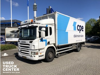 Scania P 230 B 4X2 Plywood box with open side and tailgate - bakwagen