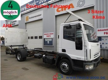 Iveco 75E15 EuroCargo LBW*AHK*Klima*1.Hand  Tempomat - chassis vrachtwagen