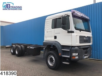 MAN TGA 33 480 6x4, Steel suspension, 13 Tons axles, Manual, Retarder, Hub reduction, Analoge tachograaf - chassis vrachtwagen