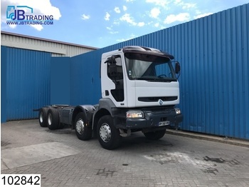 Renault Kerax 420 8x4, Steel suspension, Telma retarder, Airco, PTO, Hub reduction, Manual, Analoge tachograaf - chassis vrachtwagen