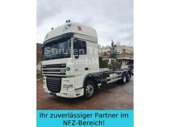 Containertransporter/ wissellaadbak vrachtwagen DAF XF 105 410 SSC EEV 6X2 BDF Twistlock Fahrgestell