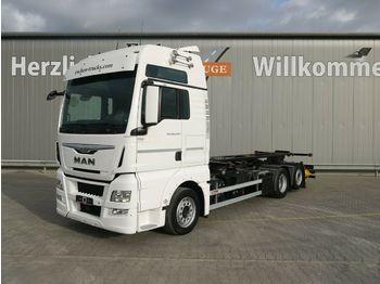 Containertransporter/ wissellaadbak vrachtwagen MAN TGX 26.440 LL Intarder*Göbel Multi Hub*Lenk/Lift