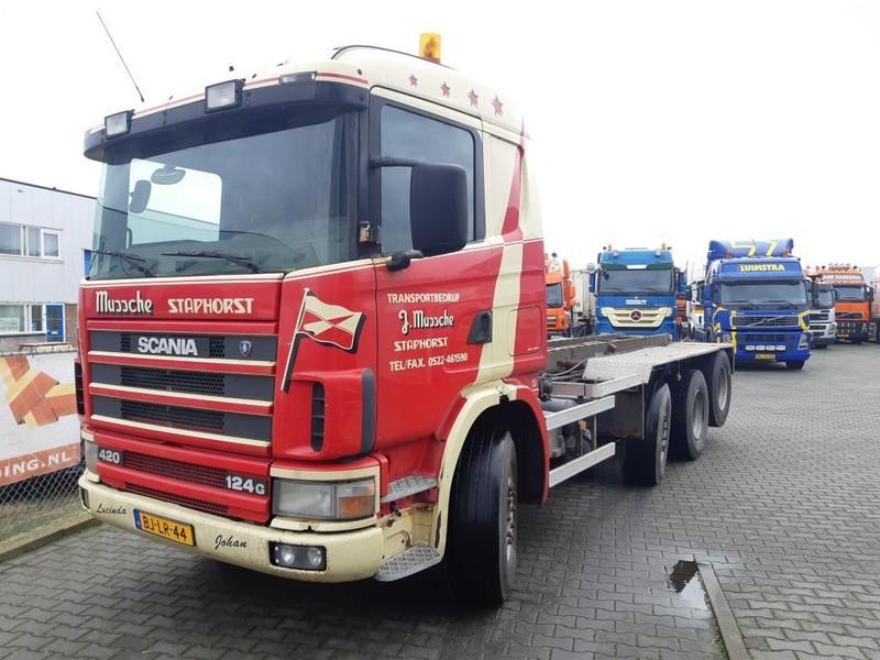 containertransporter/ wissellaadbak vrachtwagen Scania R124-420 R 124 GB 8X2/4 NA 420