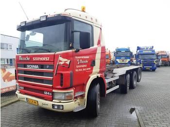 Containertransporter/ wissellaadbak vrachtwagen Scania R 124 GB 8X2/4 NA 420