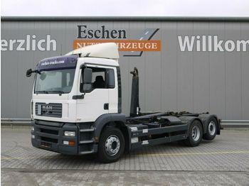 Haakarmsysteem vrachtwagen MAN TGA 26.360 6x2-2 BL, Meiller RK 20.65, Bl/Lu