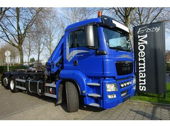 Haakarmsysteem vrachtwagen MAN TGS 26.480 6x2-2 Abroller Mit Kran