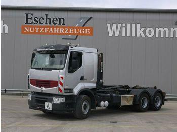 Haakarmsysteem vrachtwagen Renault 460 DXI 6x4, Premium Lander, Hiab XR 18S56, EEV