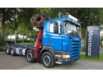 Haakarmsysteem vrachtwagen Scania R480 8x4 Abroller Mit Kran