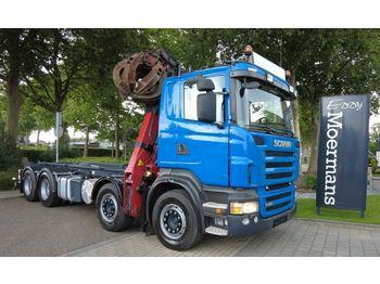 Haakarmsysteem vrachtwagen Scania R480 8x4 Schrottkran Mit Abrolkipper