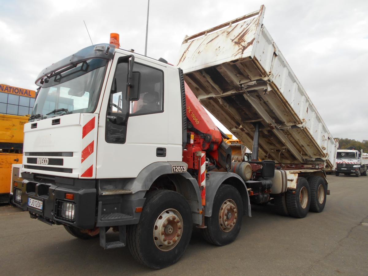kipper vrachtwagen Iveco Trakker 440 E 34