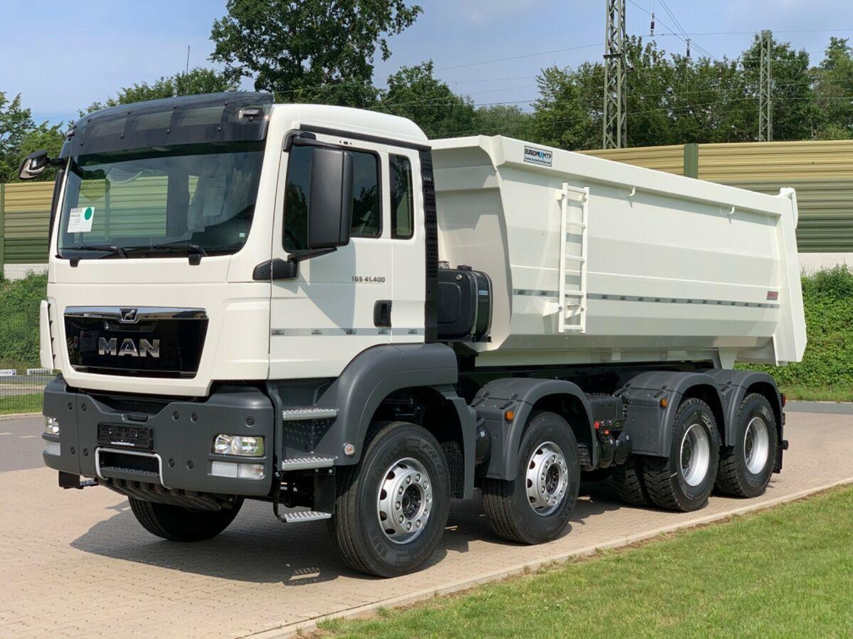 kipper vrachtwagen MAN 41.400 8x4 / MuldenKipper EUROMIX  20m³/ EURO 5