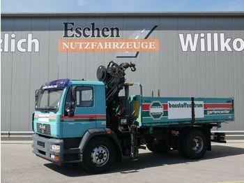Kipper vrachtwagen MAN LE 14.220 BL 3-Seiten Kipper*HIAB 085 E4*Manuell