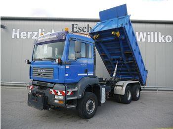 Kipper vrachtwagen MAN TGA 26.390 6x6 Steel/Steel*AC*MEILLER*AP-Axle