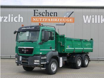 Kipper vrachtwagen MAN TGS 26.440 6x6 H, Meiller 3-S-Kipper, Bordmatik