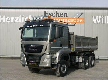 Kipper vrachtwagen MAN TGS 26.480 6x6 BL*Meiller 3-Seiten*Bordmatik*AP