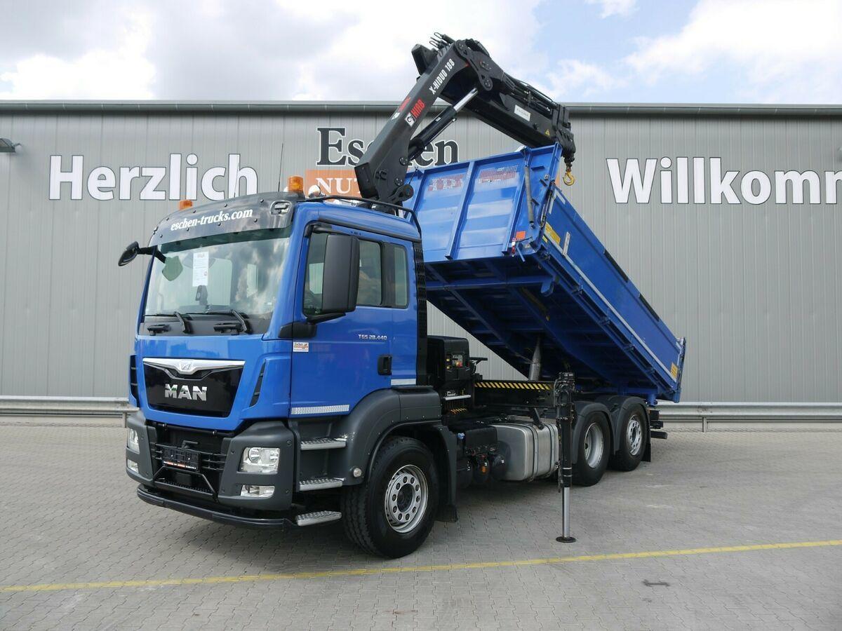 kipper vrachtwagen MAN TGS 28.440 6x2-4 BL*Meiller*HIAB 188 ES4*Funk