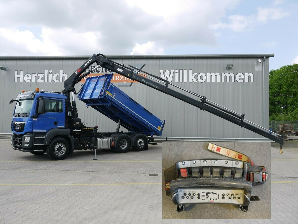 kipper vrachtwagen MAN TGS 28.440 6x2-4*Pritarder*HIAB 188ES4*Funk*5+6.