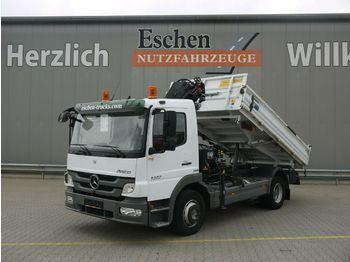 Kipper vrachtwagen Mercedes-Benz 1222 Atego Meiller3-S-Kipper*HIAB 088*5.+6.Kreis