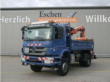 Kipper vrachtwagen Mercedes-Benz Axor 1833 AK 4x4 Kipper*Atlas 126.3E3*Klima*FUNK