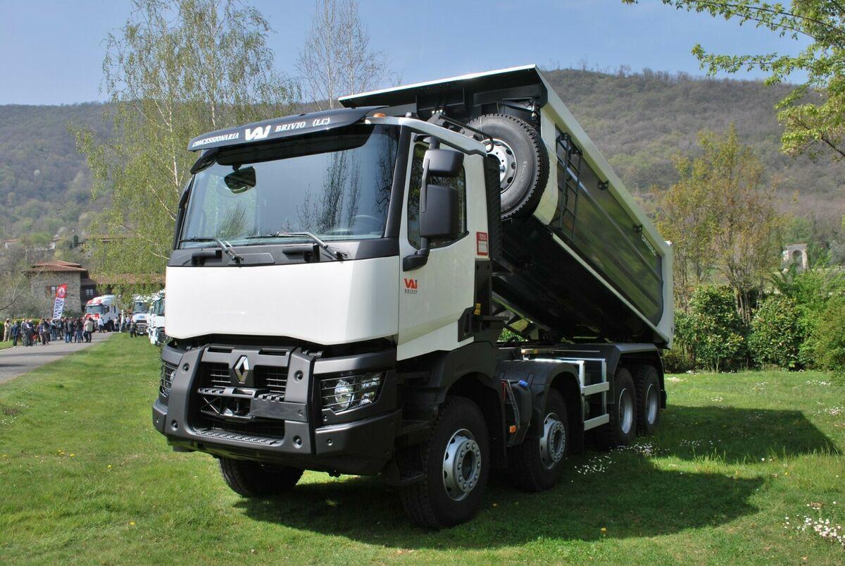 kipper vrachtwagen Renault C430 8x4 / EuroMix MTP  Mulden Kipper
