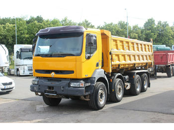 Renault KERAX 420.40 PR 8X4 , THREE SIDED  - kipper vrachtwagen