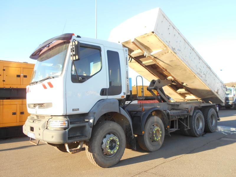 kipper vrachtwagen Renault Kerax 370